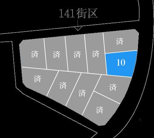 ひびきの土地141街区図