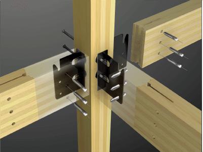 耐震構法SE構法の接合部